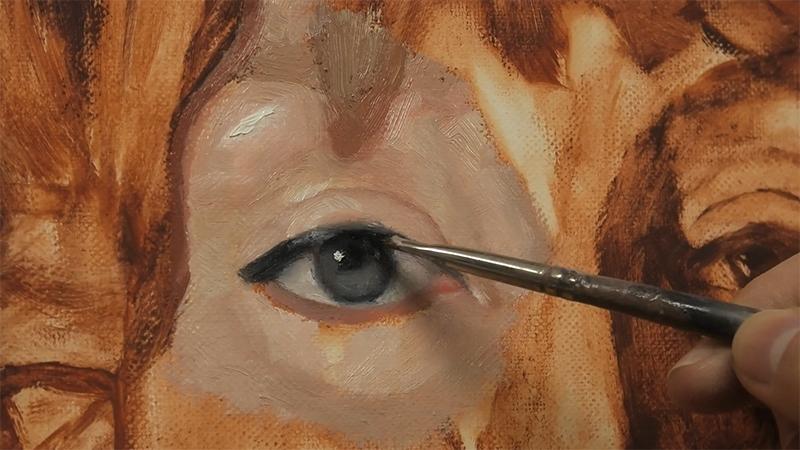 oil painting an eye