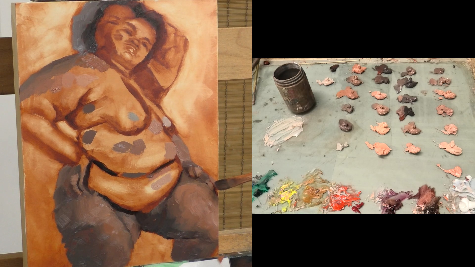 mixing oil paint and colour