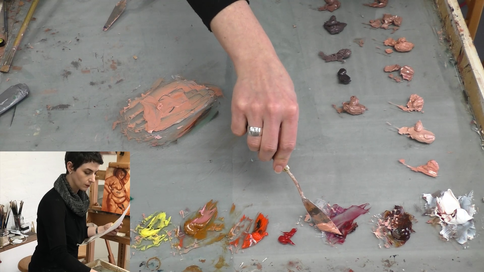 colour mixing for oil painting
