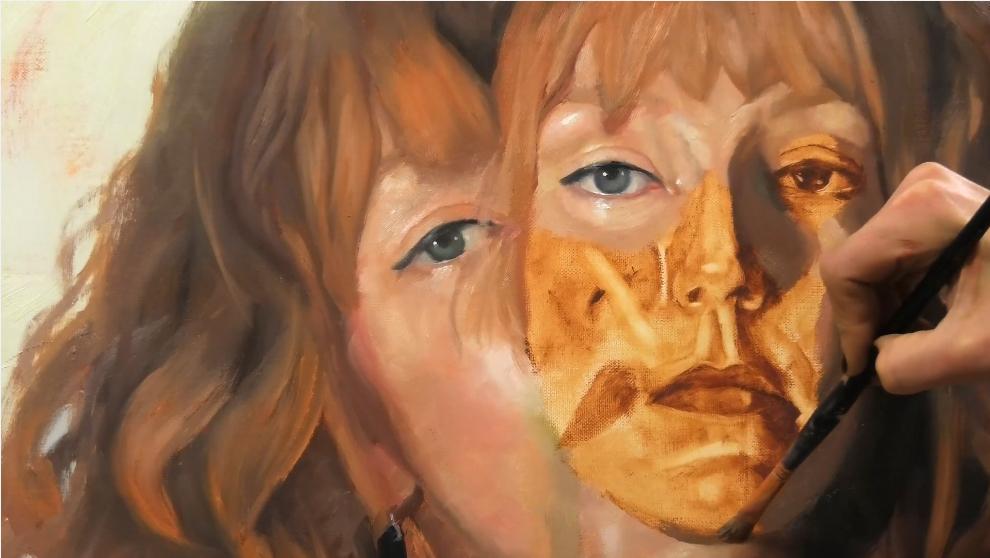 oil painting portrait timelapse